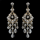 Elegance by Carbonneau E-9685-G-Clear Swarovski Crystal & Rhinestone Chandelier Earrings E 9685 (Silver or Gold)