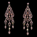 Elegance by Carbonneau E-988-Pink Dazzling Pink Earrings E 988