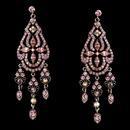 Elegance by Carbonneau E-988-Pink Dazzling Pink Earrings E 988