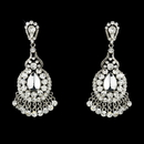 Elegance by Carbonneau E-989-Clear Clear Crystal Bridal Chandelier Earrings E 989