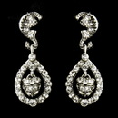 Elegance by Carbonneau E-9949-AS-Clear Antique Silver Clear Kate Middleton Acorn Crystal Bridal Earrings 9949
