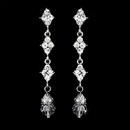 Elegance by Carbonneau Earring-E-937silverclear Elegant Silver & Clear Crystal Drop Earrings E 937