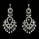 Elegance by Carbonneau Earring-E-956silverwhite Vintage White Pearl Chandelier Earrings E 956