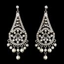 Elegance by Carbonneau Earring-E-957silver Vintage Chandelier Pearl Dangle Earrings E 957