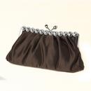 Elegance by Carbonneau EB_302_Brown Brown Satin Rhinestone Evening Bag 302