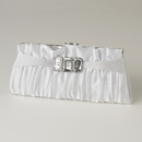 Elegance by Carbonneau EB-314-White White Satin Crystal Evening Bag 314