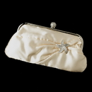 Elegance by Carbonneau EB-315-Brooch-3177 Satin Crystal Evening Bag 315 with Silver Clear Beach Starfish Brooch 3177