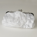 Elegance by Carbonneau EB-316-White White Floral Rose Rhinestone Evening Bag 316