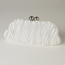 Elegance by Carbonneau EB-317-Cream Cream Satin Evening Bag 317
