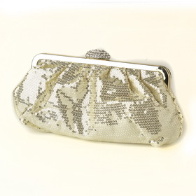 Elegance by Carbonneau EB-320-Gold Gold Sequin & Rhinestone Evening Bag 320