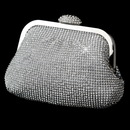 Elegance by Carbonneau EB-333-S-Clear Silver Clear Single Sided Crystal Evening Bag 333