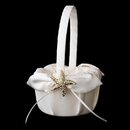 Elegance by Carbonneau FB-17-Brooch-93-G-Clear Flower Girl Basket 17 with Gold Clear Starfish Brooch 93