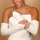 Elegance by Carbonneau GL-1237V-16 Fingerless Matte Satin Bridal Glove GL 1237 V 16