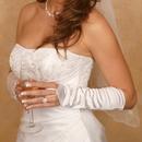 Elegance by Carbonneau GL-212V-8E Satin Fingerless Elbow Length Bridal Glove GL 212 V 8 E