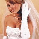 Elegance by Carbonneau GL-2231-12A Rhinestone Bridal Gloves GL2231-12A