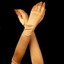 Elegance by Carbonneau Glove-Satin-147-Orange Satin Bridal Bridesmaid Gloves - Orange