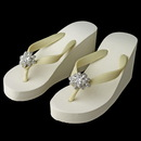 Elegance by Carbonneau High-Wedge-Brooch-1001 Flower Rhinestone High Wedge Flip Flops