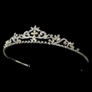 Elegance by Carbonneau HP-11109-S-White Crystal Bridal Tiara HP 11109 (Silver or Gold)