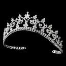 Elegance by Carbonneau HP-167 Royal Rhinestone Crown Tiara in Radiant Silver 167