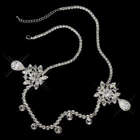 Elegance by Carbonneau HP-1861-S-Clear Silver Clear Round Rhinestone Kim Kardashian Inspired Floral Bridal Headband Headpiece 1861