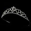 Elegance by Carbonneau HP-460-Silver-Clear-16 Sweet 16 Silver Plated Tiara Covered in Sparkling Rhinestones 460