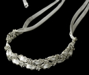 Elegance by Carbonneau HP-6470-Si-iv Fabulous Ivory & Clear Crystal Ribbon Headband 6470