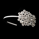 Elegance by Carbonneau HP-6547-S-Clear Silver Clear Headpiece 6547