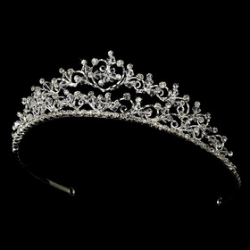 Elegance by Carbonneau HP-7034 Swarovski Heart Bridal Tiara HP 7034