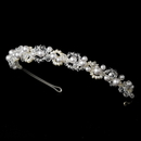 Elegance by Carbonneau HP-8129 Swarovski & Pearl Bridal Headpiece HP 8129