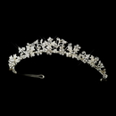 Elegance by Carbonneau HP-8176-S-Clear Silver Austrian Crystal Floral Bridal Tiara Headpiece 8176