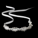 Elegance by Carbonneau HP-8206-Silver-Ivory-Clear Headband 8206 Silver Ivory Clear