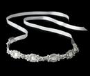 Elegance by Carbonneau hp-8209-ivory-clr Silver Clear Ivory Ribbon Headband 8209