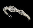 Elegance by Carbonneau HP-8240 Silver and White Pearl Bridal Tiara HP 8240