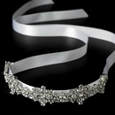 Elegance by Carbonneau HP-8286 Ribbon Vintage Crystal Bridal Headpiece HP 8286