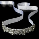 Elegance by Carbonneau HP-8287 Vintage Rhinestone Bridal Ribbon Headband HP 8287