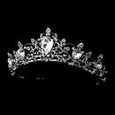 Elegance by Carbonneau HP-8329-AS-Clear Antique Rhodium Silver Tiara Clear Headpiece 8329