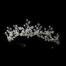 Elegance by Carbonneau HP-9785 Silver Clear Headband Headpiece 9785