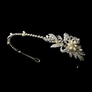 Elegance by Carbonneau HP-9849-S-Clear Silver Clear Headband Headpiece 9849