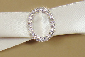 Elegance by Carbonneau inv-bq-2194 Rhinestone Invitation Buckle Embellishments BQ Buckle 2194 Oval