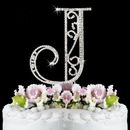 Elegance by Carbonneau J-Roman Romanesque ~ Swarovski Crystal Wedding Cake Topper ~ Letter J