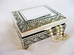 Elegance by Carbonneau JB-26036 Square Emblematic Jewelry Box 26036