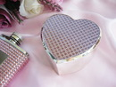 Elegance by Carbonneau Jewelrybox-83623 Pink Crystal Glitter Heart Jewelry Box 83623
