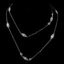 Elegance by Carbonneau N-3017-Silver Antique Silver Clear CZ Necklace 3017