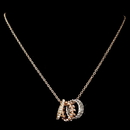 Elegance by Carbonneau N-76003-RG-CL Rose Gold Necklace 76003 w/ Rings