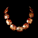 Elegance by Carbonneau N-8337-Gold-Red Necklace 8337 Gold Red