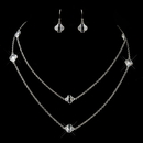 Elegance by Carbonneau N-8727-E-8727-S-Clear Silver Clear Crystal Necklace & Earrings 8727