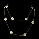Elegance by Carbonneau Ivory Stone with Gold and Crystal Necklace 8728