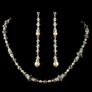 Elegance by Carbonneau N-9713-E-9718-S-IV Silver Ivory Pearl & Swarovski Crystal Bead Necklace 9713 & Earrings 9718 Jewelry Set
