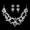 Elegance by Carbonneau NE-1013-Silver-Clear Necklace Earring Set 1013 Silver Clear