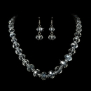 Elegance by Carbonneau NE-1017-Silver-Clear Necklace Earring Set NE 1017 Silver Clear